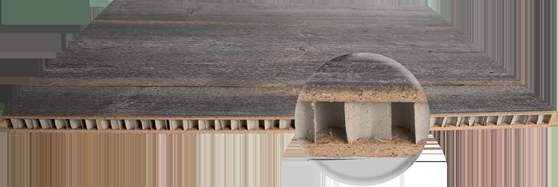 Leichtbauplatte Altholz Design
