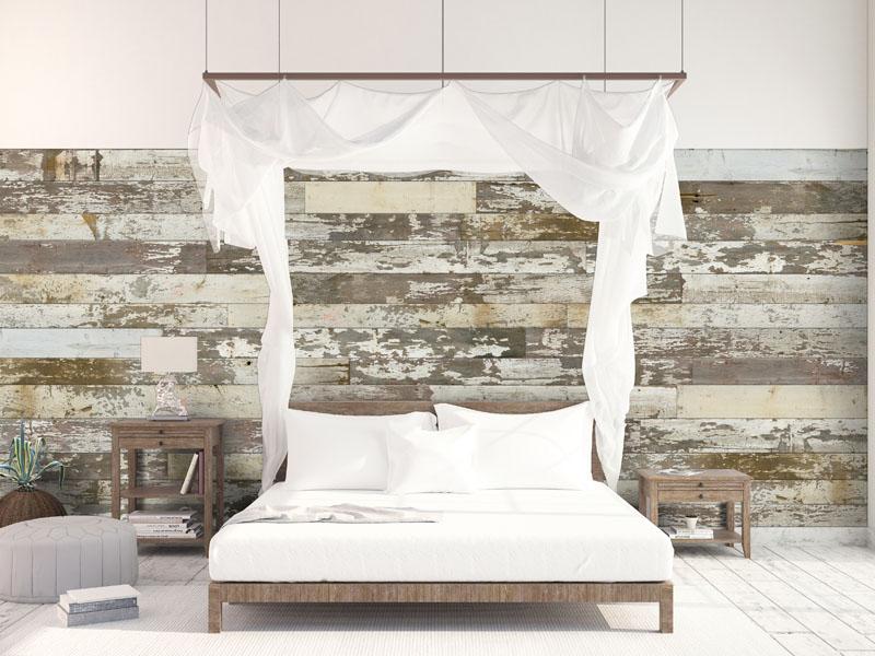 Holzverkleidung für Wand aus Altholz