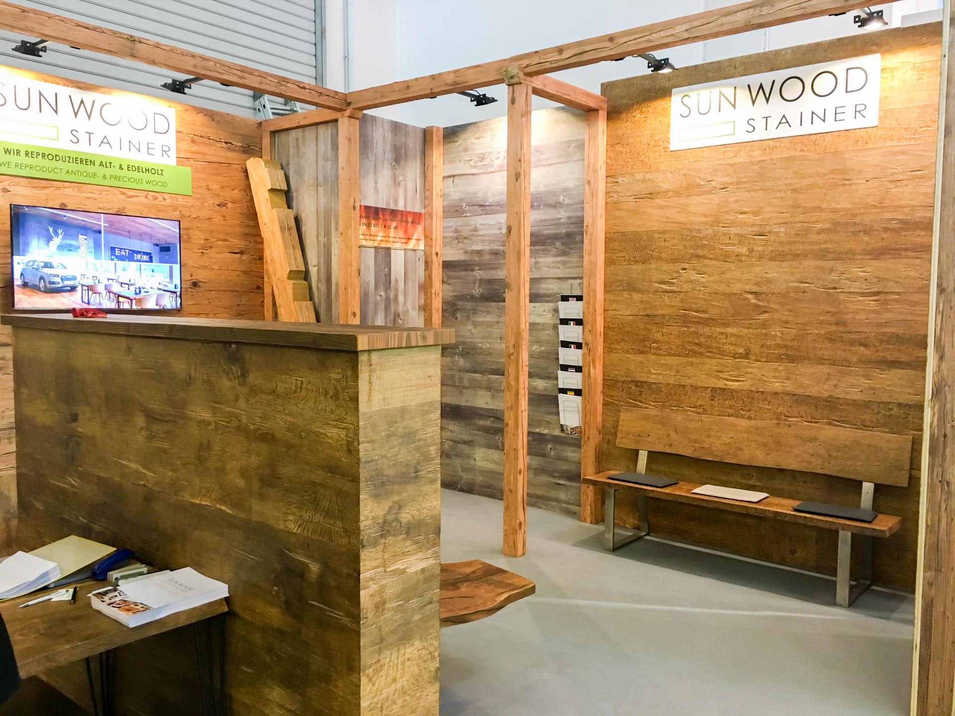 messest nde bau 2017 stainer sun wood. Black Bedroom Furniture Sets. Home Design Ideas