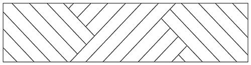 3-Fach-Zopf Parkett-Verlegeart