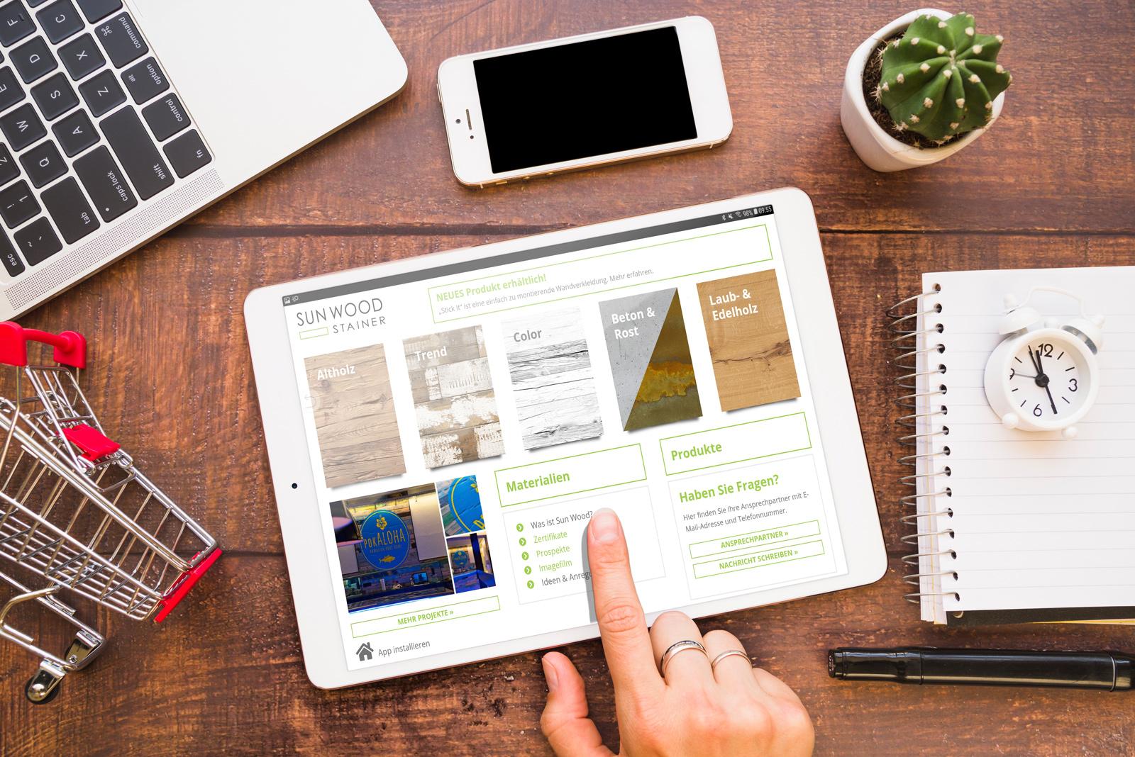 App auf iPad Tablet