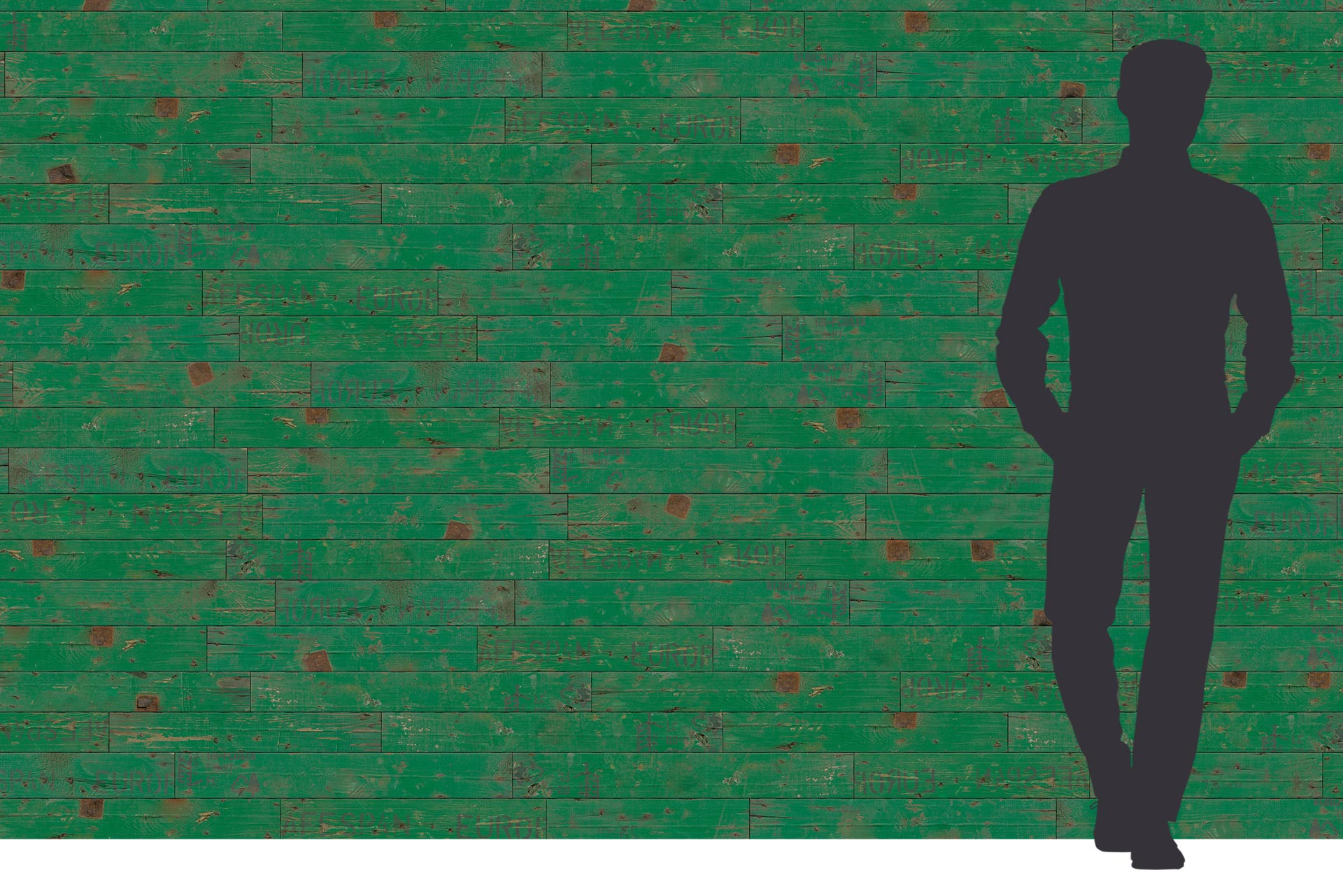 Grüne Holzbrett Optik auf Dreischichtplatte