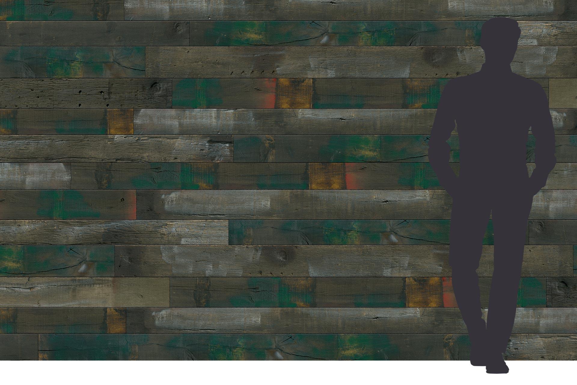 Eichendekor grün auf 3-Schichtplatte