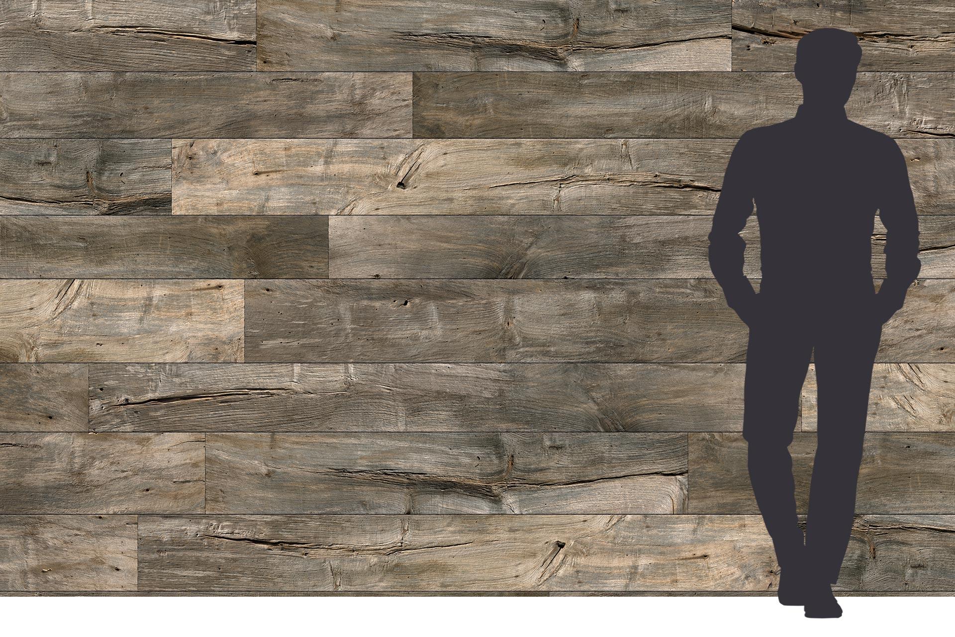 Dreischichtplatte in 5x2 Meter mit Altholzoptik