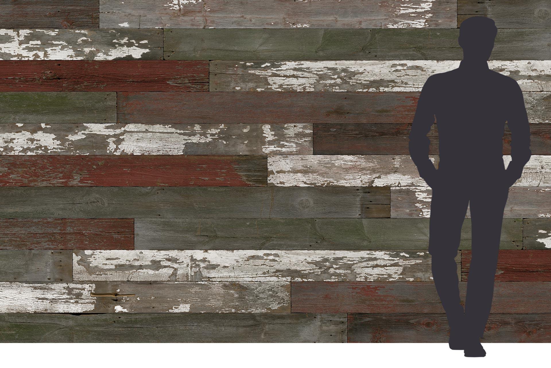 Vintage Look Holzwand