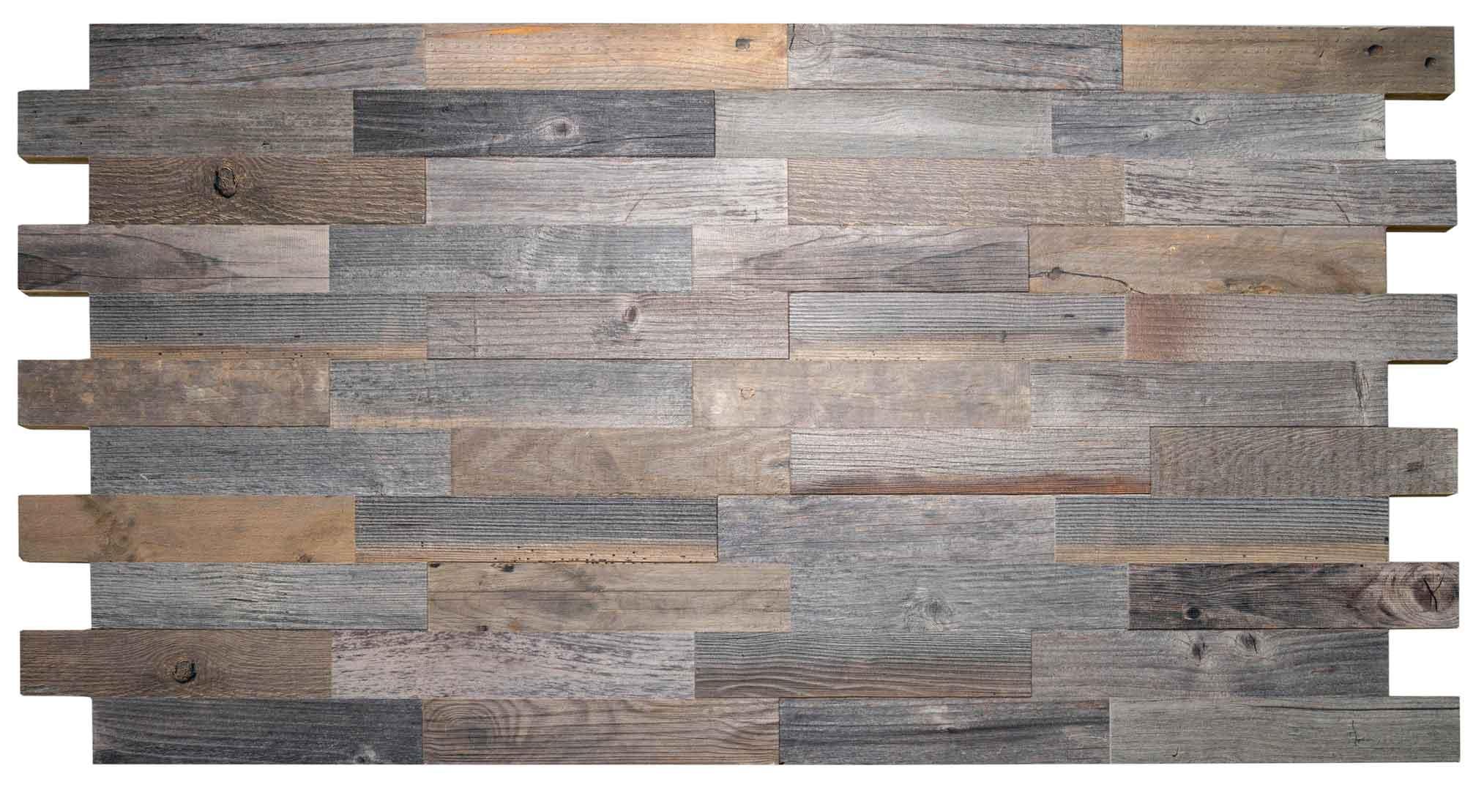 Spaltholzplatte mit versetztem Brettabschluss