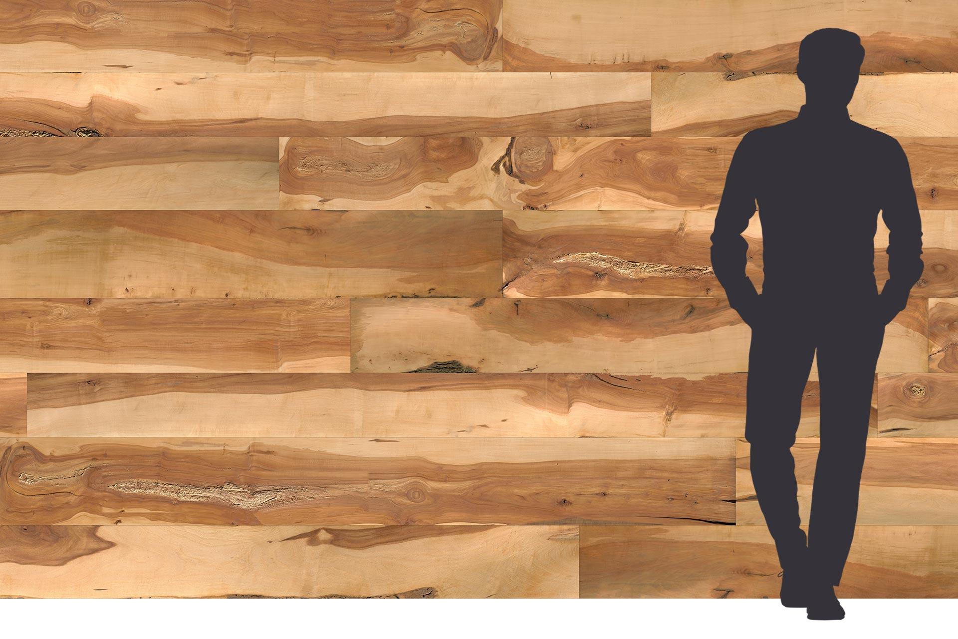 Apfelholz auf 3-Schichtplatte
