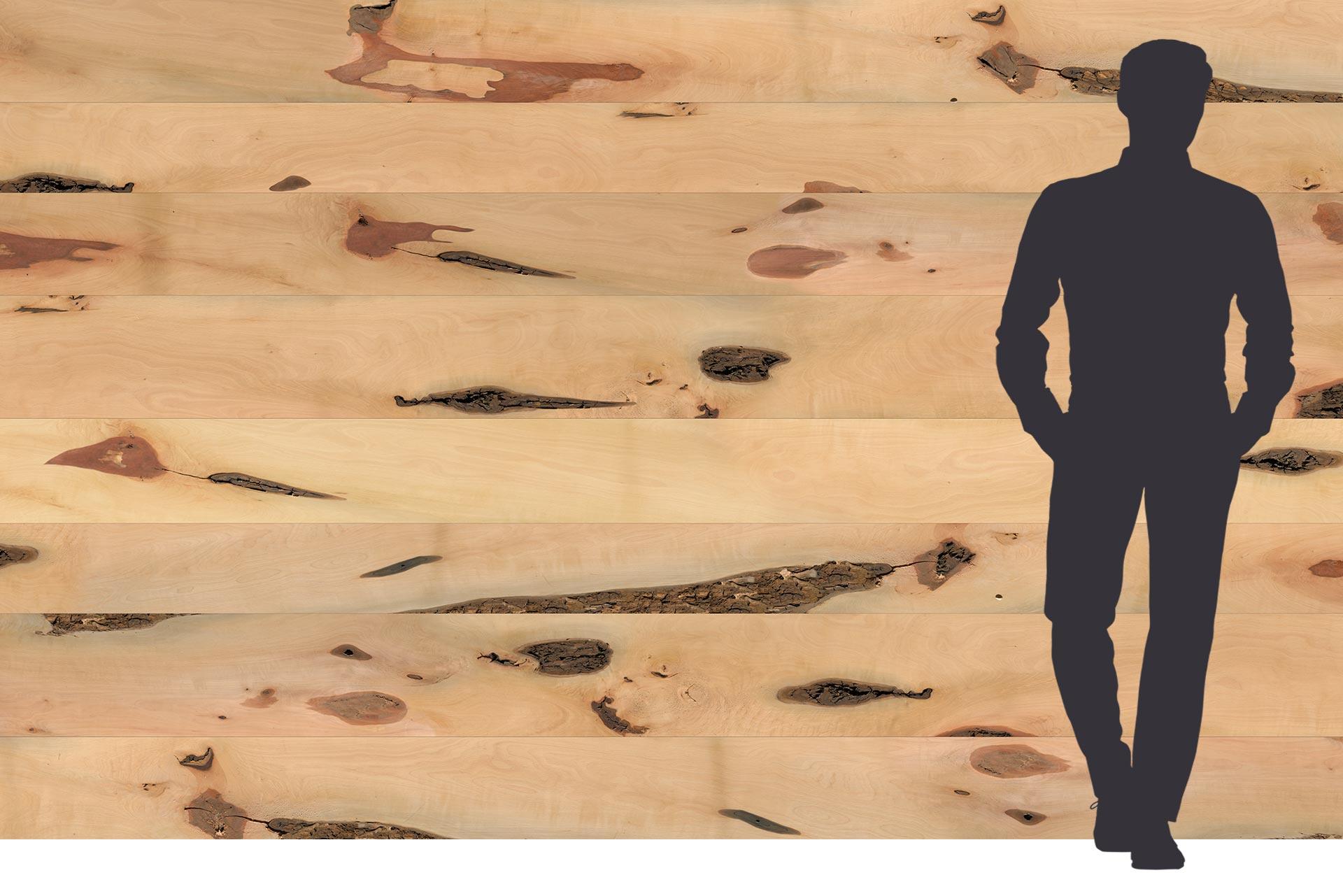 Birnenholz Dekor auf Dreischichtplatte