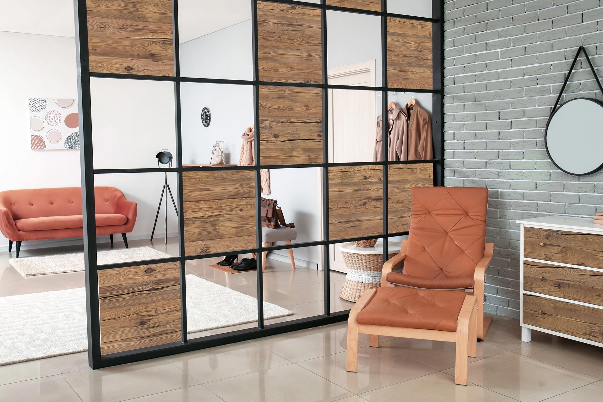 Selbstklebendes Holzfurnier für Möbel, Glas oder Wand