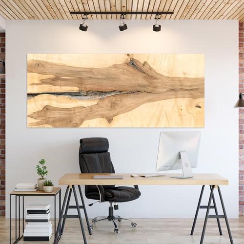 Holzstamm Platte Wand