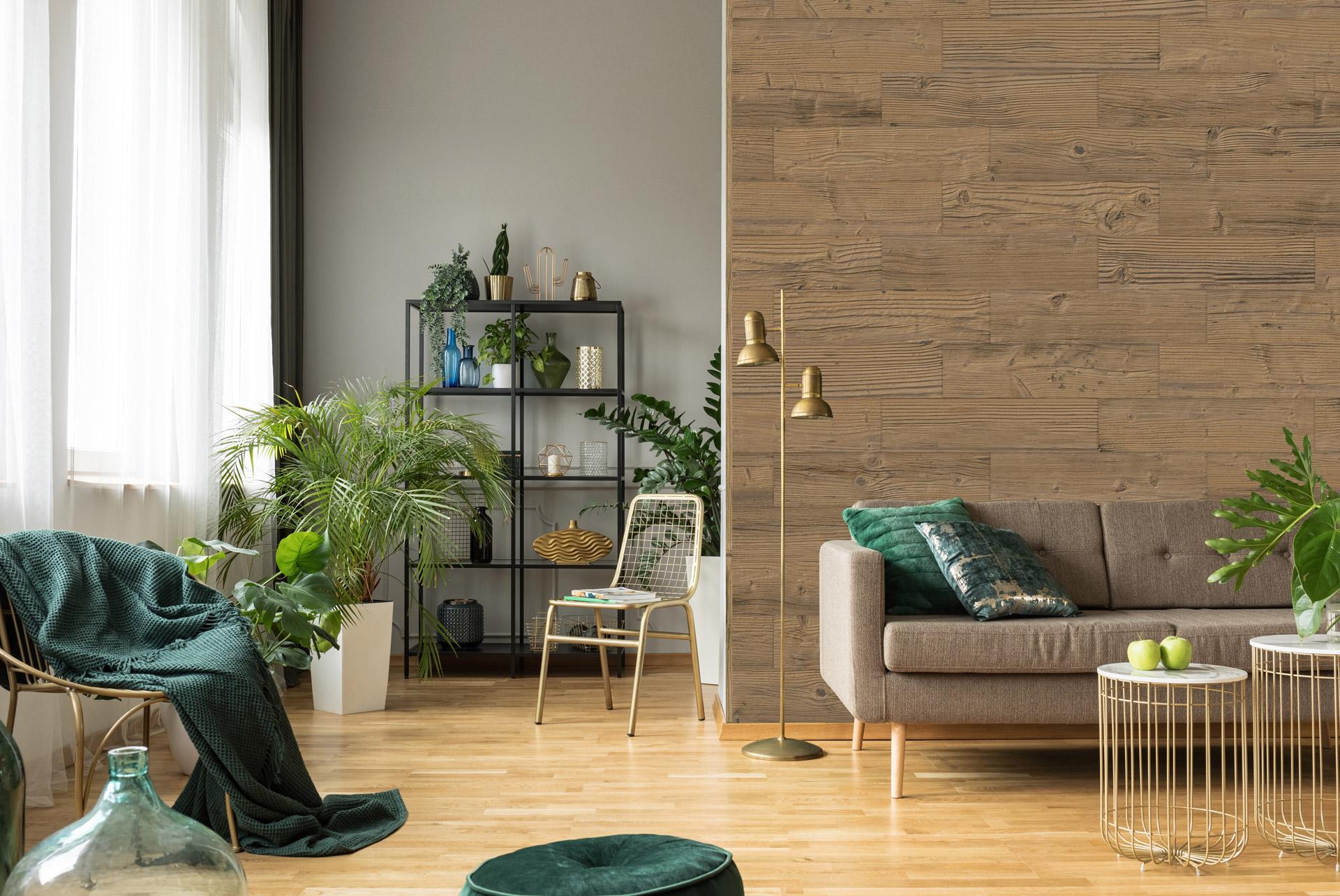 Wandpaneele aus Holz rustikal